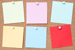 五颜六色的黏着性笔记 库存照片