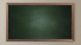 空白的绿色黑板 免版税库存图片