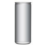 空白的Alumunium可能导航 免版税库存图片