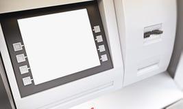 空白的ATM显示 库存图片