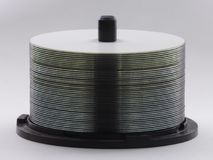 空白的DVDs或CDs纺锤  免版税图库摄影