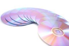 空白的dvds 库存照片