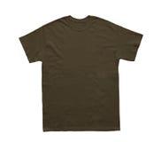 空白的T恤杉颜色黑暗的巧克力模板 库存图片
