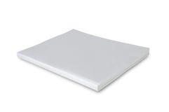 空白盖子杂志页白色 免版税库存照片