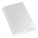 空白盖子杂志 图库摄影