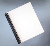 空白盖子笔记本螺旋 免版税库存照片
