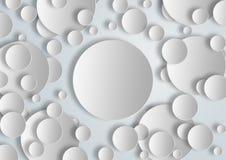 空白盘旋横幅为图解使用 免版税库存图片