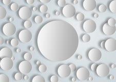 空白盘旋横幅为图解使用 免版税图库摄影