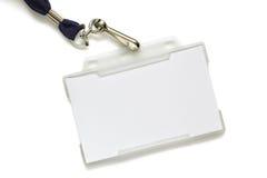 空白短绳名牌 库存图片