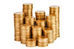 空白硬币的栈 免版税库存照片
