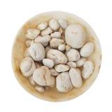 空白碗的小卵石 免版税库存照片