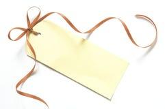 空白礼品标签 免版税库存图片