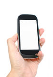 空白移动电话屏幕 免版税库存照片