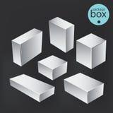 空白程序包配件箱 包装的假装模板 向量例证