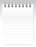 空白笔记本向量 免版税库存照片