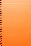 空白笔记本桔子 免版税库存图片