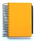 空白笔记本桔子 免版税图库摄影