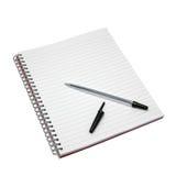 空白笔记本笔 库存图片