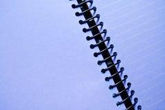 空白笔记本紫色 免版税库存图片