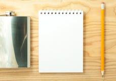 空白笔记本螺旋 库存照片