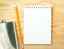 空白笔记本螺旋 免版税库存照片