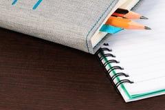 空白笔记本铅笔 免版税库存图片
