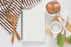 空白笔记本食谱 免版税库存图片