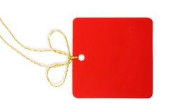 空白红色标签 免版税库存照片