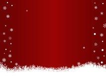 空白红色的雪花 库存照片