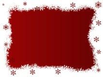 空白红色的雪花 免版税库存照片