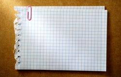 空白纸片 免版税库存图片