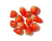 空白结的srawberries 免版税图库摄影