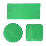 空白绿色标签皮革集 免版税库存图片
