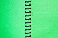 空白绿色笔记本 库存照片