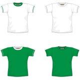 空白绿色衬衣t 库存照片