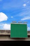 空白绿色路标 库存图片