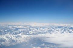 空白美丽的云彩 免版税库存图片