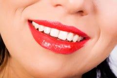 空白美丽的微笑的牙 免版税库存照片