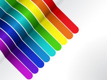 空白背景五颜六色的线路 免版税库存图片