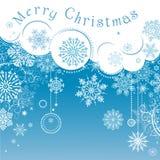 空白背景圣诞节查出的雪花 图库摄影