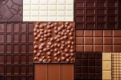 空白背景巧克力黑暗的点心的甜点 免版税库存图片