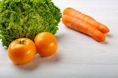 空白背景接近的重点新鲜的有选择性的蔬菜 库存照片