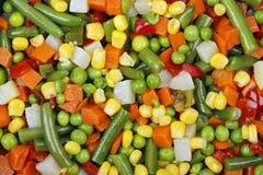 空白背景新鲜的庭院混杂的蔬菜 库存照片