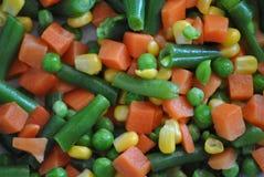 空白背景新鲜的庭院混杂的蔬菜 免版税库存图片