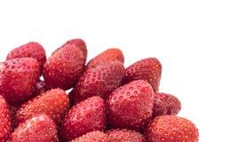 空白背景新鲜的查出的草莓 免版税库存照片
