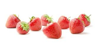 空白背景新鲜的草莓 免版税库存图片