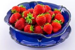 空白背景新鲜的草莓 免版税库存照片