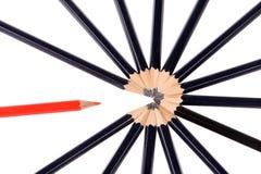 空白背景新主意查出的铅笔 免版税库存图片