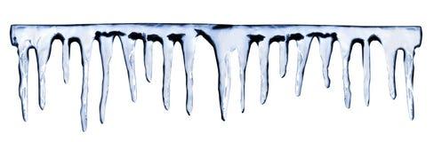空白背景的冰柱 库存照片