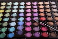 空白背景的化妆用品 免版税库存照片